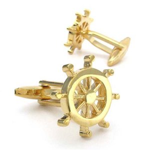 PW 高品質真鍮 船の舵 カフス ボタン 条件付 送料無料 22279 pwatch2014