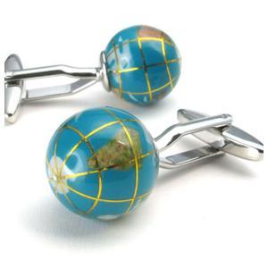 PW 高品質アクリル樹脂 人気地球儀 カフス ボタン 条件付 送料無料 22434 pwatch2014