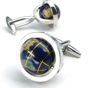 PW 高品質アクリル樹脂 人気地球儀 カフス ボタン 条件付 送料無料 22435 pwatch2014