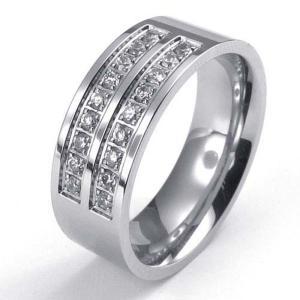 PW 高品質ステンレス ダイヤモンドcz 指輪 リング 条件付 送料無料 22465|pwatch2014