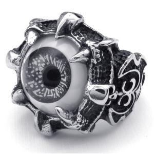 PW 高品質316Lステンレス 義眼 指輪 リング 条件付 送料無料 22598|pwatch2014