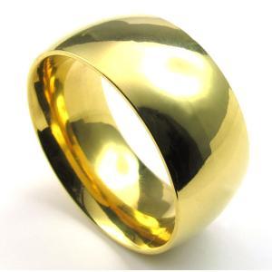 PW 高品質316Lステンレス 黄金色 指輪 リング 条件付 送料無料 22937|pwatch2014