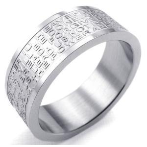 PW 高品質316Lステンレス 聖書xクロス 指輪 条件付 送料無料 23257|pwatch2014|02