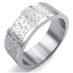 PW 高品質316Lステンレス 聖書xクロス 指輪 条件付 送料無料 23257|pwatch2014|03
