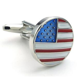 PW 高品質真鍮 アメリカ国旗 カフス ボタン 条件付 送料無料 23354 pwatch2014