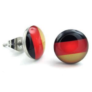 PW 高品質316Lステンレス ドイツ国旗 ピアス 条件付 送料無料 23394|pwatch2014