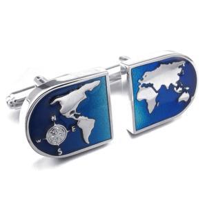 PW 高品質真鍮 世界地図  カフス ボタン 条件付 送料無料 23397 pwatch2014