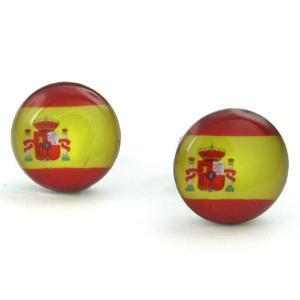 PW 高品質ステンレス スペイン国旗 ピアス 条件付 送料無料 23455|pwatch2014