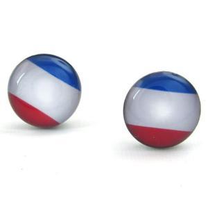 PW 高品質ステンレス フランス国旗 ピアス 条件付 送料無料 23457|pwatch2014