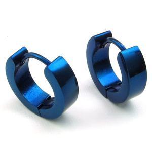 PW 高品質316Lステンレス 青の丸 ピアス 条件付 送料無料 23574|pwatch2014