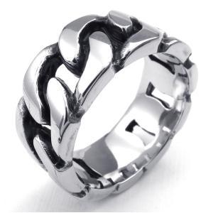 PW 高品質ステンレス 圧力鋳造 チェーン型 指輪 条件付 送料無料 23944|pwatch2014