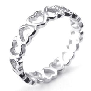 PW 高品質925純銀シルバー ハート形 指輪 条件付 送料無料 24288