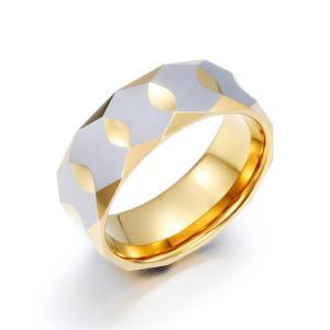 PW 高品質タングステン サイドカット 輝き 金ゴールド指輪 / 幅9mm 12-28号 23g  リング[ラッピング対応] 条件付送料無料60186|pwatch2014