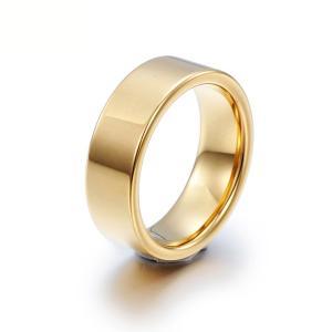 PW 高品質タングステン シンプル 輝き 金ゴールド指輪 / 幅8mm 12-28号 23g  リング[ラッピング対応] 条件付送料無料60191|pwatch2014