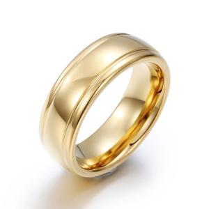 PW 高品質タングステン シンプル 輝き 金ゴールド指輪 / 幅7mm 12-28号 14g  リング[ラッピング対応] 条件付送料無料60250|pwatch2014
