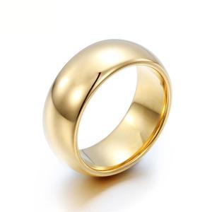 PW 高品質タングステン シンプル 輝き 金ゴールド指輪 / 幅8mm 12-28号 19g  リング[ラッピング対応] 条件付送料無料60251|pwatch2014