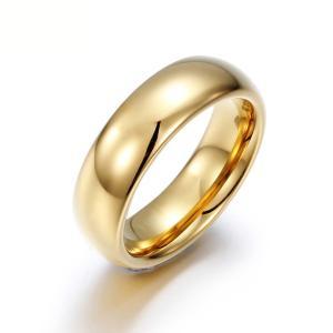 PW 高品質タングステン シンプル 輝き 金ゴールド指輪 / 幅6mm 12-28号 15g  リング[ラッピング対応] 条件付送料無料60331|pwatch2014