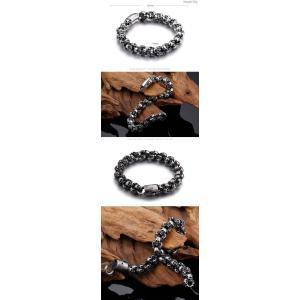 ブレスレット[ラッピング対応] PW 精良SUS316L製 シルバー銀色 骸骨 髑髏 スカル skull ファッション bracelet /  長さ225mm 幅12mm 70g 条件付送料無料61145|pwatch2014|04