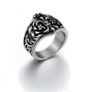 指輪 リング[ラッピング対応] PW 精良SUS316L製 シルバー銀色 クロムハーツ風 百合の紋章 フルール ド リス ring /  幅26mm 16-26号 14g 条件付送料無料61203|pwatch2014