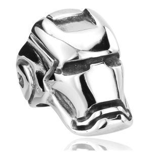 指輪 リング[ラッピング対応] PW 精良SUS316L製 シルバー銀色 マーベル コミック アイアンマンの頭部の仕様 ring /  幅21mm 14-28号 条件付送料無料61288|pwatch2014