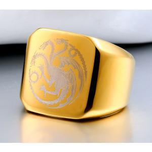 指輪 リング[ラッピング対応] PW 精良SUS316L製 銀 金 黒 ゲーム オブ スローンズの仕様 Game of Thrones 印台ring /  幅18mm 14-28号 15g 条件付送料無料61300|pwatch2014|03