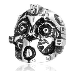 指輪 リング[ラッピング対応] PW 精良SUS316L製 シルバー銀色 トランスフォーマー バンブルビー仕様 ring /  幅28mm 14-31号 25g 条件付送料無料61308|pwatch2014