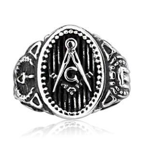指輪 リング[ラッピング対応] PW 精良SUS316L製 シルバー銀 ゴールド金 フリーメイソン Freemason ring /  幅25mm 14-28号 12g 条件付送料無料61316|pwatch2014