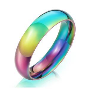 指輪 リング[ラッピング対応] PW 精良SUS316L製 カラフル 幻の色 レインボー シンプル 幅6mm ring /  幅6mm 12-28号 6g 条件付送料無料61322|pwatch2014