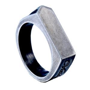 指輪 リング[ラッピング対応] PW 精良SUS316L製 シルバー銀色 アンティーク風 シンプルなデザイン 6mm 印台 ring /  幅6mm 14-28号 条件付送料無料61417|pwatch2014