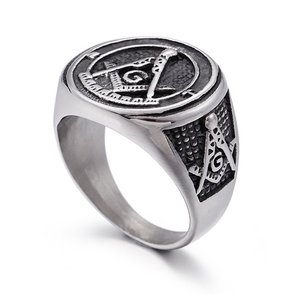 指輪 リング[ラッピング対応] PW 精良SUS316L製 シルバー銀 フリーメイソン G コンパス 定規 Freemasonry ring /  長さ25mm 幅22mm 18-28号 条件付送料無料61685|pwatch2014