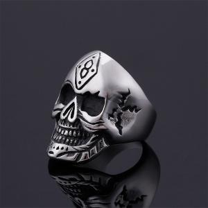 指輪 リング[ラッピング対応] PW 精良SUS316L製 シルバー銀 髑髏 スカル ラッキーナンバー8 skull ring /  長さ33mm 幅25mm 18-28号 条件付送料無料61689|pwatch2014|02