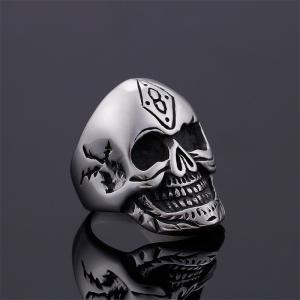 指輪 リング[ラッピング対応] PW 精良SUS316L製 シルバー銀 髑髏 スカル ラッキーナンバー8 skull ring /  長さ33mm 幅25mm 18-28号 条件付送料無料61689|pwatch2014|03