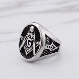 指輪 リング[ラッピング対応] PW 精良SUS316L製 シルバー銀 フリーメイソン G コンパス 定規 ピンズ ring /  長さ23mm 幅22mm 18-28号 条件付送料無料61691|pwatch2014|02