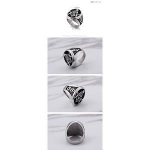 指輪 リング[ラッピング対応] PW 精良SUS316L製 シルバー銀 フリーメイソン G コンパス 定規 ピンズ ring /  長さ23mm 幅22mm 18-28号 条件付送料無料61691|pwatch2014|04