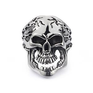 指輪 リング[ラッピング対応] PW 精良SUS316L製 シルバー銀色 髑髏 スカル skull ring /  長さ28mm 幅4mm 16-28号 条件付送料無料61768|pwatch2014