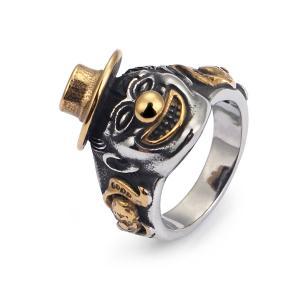指輪 リング[ラッピング対応] PW 精良SUS316L製 ゴールド金 シルバー銀色 ジョーカー joker ring /  長さ23mm 幅5mm 14-28号 条件付送料無料61769|pwatch2014