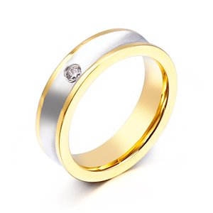 指輪[ラッピング対応] PW 精良SUS316L製 ダイヤCZ ゴールド金 ブルー青 ブラック シンプル エレガンス ring /  幅6mm 14-26号 条件付送料無料61959|pwatch2014