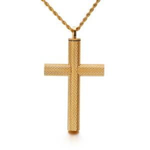 ペンダント[ラッピング対応] PW 精良SUS316L製 銀金黒の3色 キリスト教 十字架 クロス cross カプセル pendant /  長さ62mm 幅40mm 条件付送料無料61989|pwatch2014