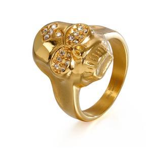 指輪[ラッピング対応] PW 精良SUS316L製 ダイヤCZ 銀金の2色 髑髏 スカル skull ring /  幅21mm 14-28号 条件付送料無料61999|pwatch2014