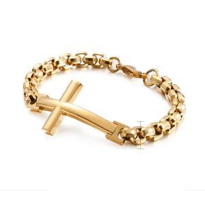 バングル[ラッピング対応] PW 精良SUS316L製 銀金灰の3色 十字架 クロス corss bracelet /  長さ220mm 幅8mm 条件付送料無料62009|pwatch2014