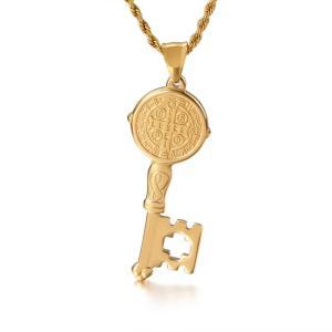 ペンダント[ラッピング対応] PW 精良SUS316L製 聖ベネディクトゥスのメダル Saint Benedict Medal pendant /  長さ52mm 幅20mm 条件付送料無料62030|pwatch2014