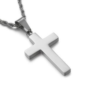 ペンダント[ラッピング対応] PW 精良SUS316L製 銀x金 キリスト教 洗練 シンプル 十字架 クロス cross pendant /  長さ35mm 幅20mm 条件付送料無料62040|pwatch2014