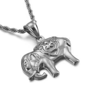 ペンダント[ラッピング対応] PW 精良SUS316L製 銀x金 ゾウさん 象 エレファント elephant pendant /  長さ30mm 幅25mm 条件付送料無料62044|pwatch2014