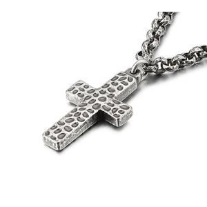 [ラッピング対応] PW 精良SUS316L製 シルバー銀色 アンティーク風 十字架 necklace bracelet /  長さ31mm 幅19mm 条件付送料無料62054|pwatch2014