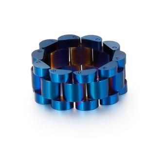 指輪[ラッピング対応] PW 精良SUS316L製 7色可選 シンプルなデザイン 腕時計の金属チェーンのモチッフ ring /  幅10mm 16-26号 条件付送料無料62057|pwatch2014