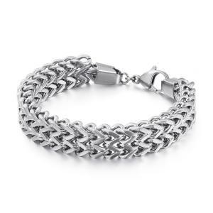 バングル[ラッピング対応] PW 精良SUS316L製 ターラントチェーン シンプル bracelet /  長さ220mm 幅16mm 条件付送料無料62065|pwatch2014