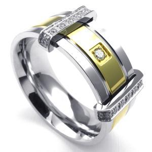 PW 高品質チタンとステンレス ダイヤCZ 指輪 23905 /    条件付送料無料23905|pwatch2014