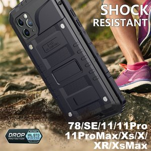 戦狼 耐衝撃 防水ケース iPhone XR XS X XS MAX 7 8 7plus 8plus...