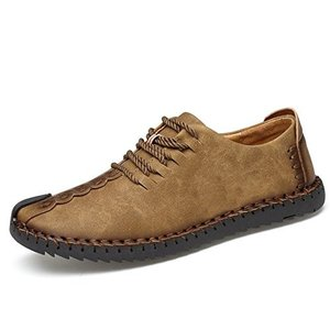 メイオウ メンズ デッキシューズ 革靴 メンズ 手作り ローカット 本革 ワークブーツ オックスフォードの靴 カジュアルシューズ ファッショ|qalib