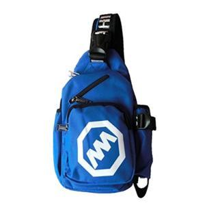 (Bluerefrain) ワンショルダーバッグ 斜め掛け ショルダーバッグ 多機能 カジュアル バッグ (ブルー)|qalib